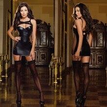 Горячее сексуальное кожаное нижнее белье одежда для стриптиза черный латексный костюм кошки эротический костюм кошки из ПВХ платье Бейонсе сексуальный костюм костюмы на Хэллоуин