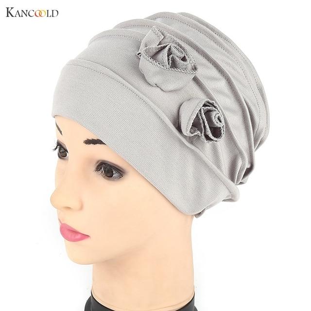 7634f8d529a2b8 Women Hat Beanie Hats for Women Keep ear Warm Scarf Muslim Stretch Hair  cover Beanies Turban Head Wrap cap Chemo caps new JY4f