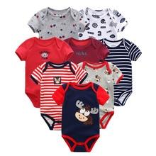 8 Stks/partij Zomer Korte Mouw Baby Boy Bodysuit Baby Boy Jumpsuit Set Ropa Bebe Baby Boy Kleding