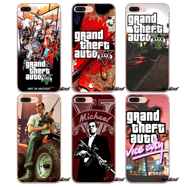 US $0 99 |GTA San Andreas Grand Theft Auto 5 V Case For Huawei G7 G8 P7 P8  P9 Lite Honor 4C 5X 5C 6X Mate 7 8 9 Y3 Y5 Y6 II 2 Pro 2017-in Half-wrapped