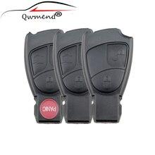 LARATH Replacement Shell Smart Remote Car Key Case 2/3/4 Buttons For Mercedes Benz M S C E CLS CLK Keys Cover NO logo