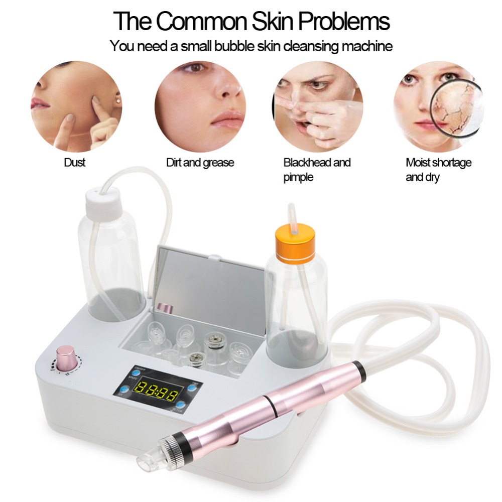 Portable Oxygen Spray Water Injection Hydro Beauty Tool Skin Rejuvenation Small Bubbles Vacuum Suction Blackhead Clean Equipment