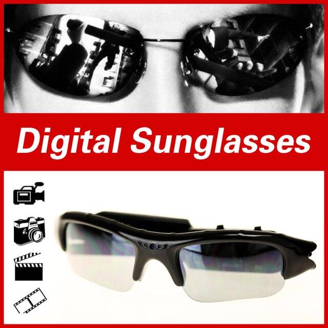 Óculos digitais de Áudio e Vídeo Da Câmera DV DVR óculos de Sol Esporte Cam Filmadora Gravador de Condução Ao Ar Livre