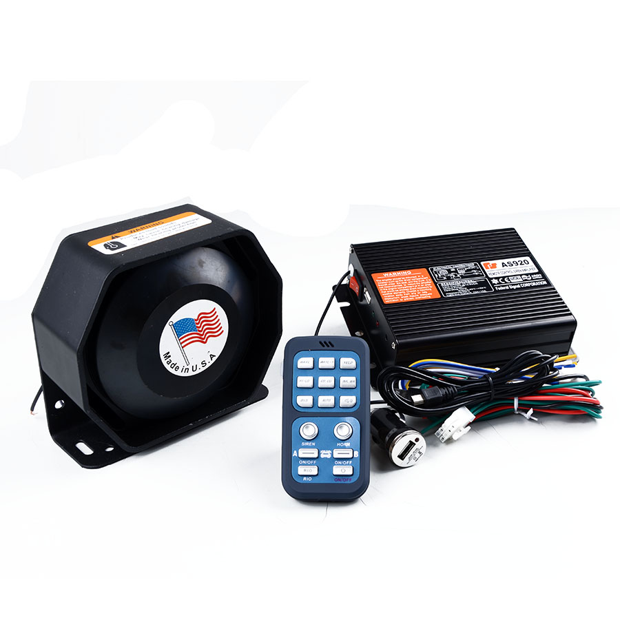 Police Siren AS920 200W Waterproof Car Alarm Siren Horn Wireless Remote Control Car Siren Police Horn Megaphone Speaker new garmin watch 2019