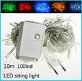 Led string lights AC110V/ AC220V 10M 100leds colorful led lighting waterproof outdoor decoration christmas tree