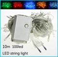 Luzes da corda Led AC110V/AC220V 10 M 100 leds coloridos conduziu a iluminação à prova d' água ao ar livre decoração da árvore de natal