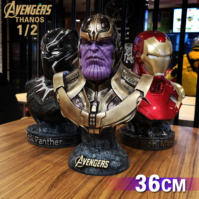 Marvel Comics 1:2 Scale 36CM Thanos Statue Resin Statuette Collectible Action Figure Home Decor Cosplay Accessory Gifts For Men