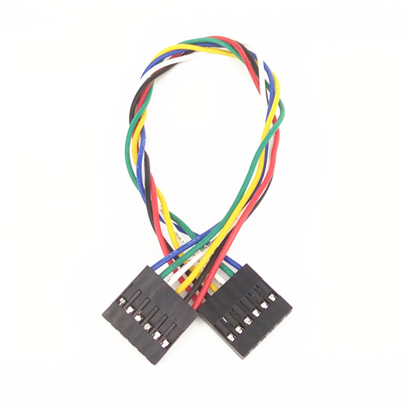 50pcs/lot 6P Double Head DuPont Line Length 20CM Jumper Wire Spacing 2.54mm For Arduino