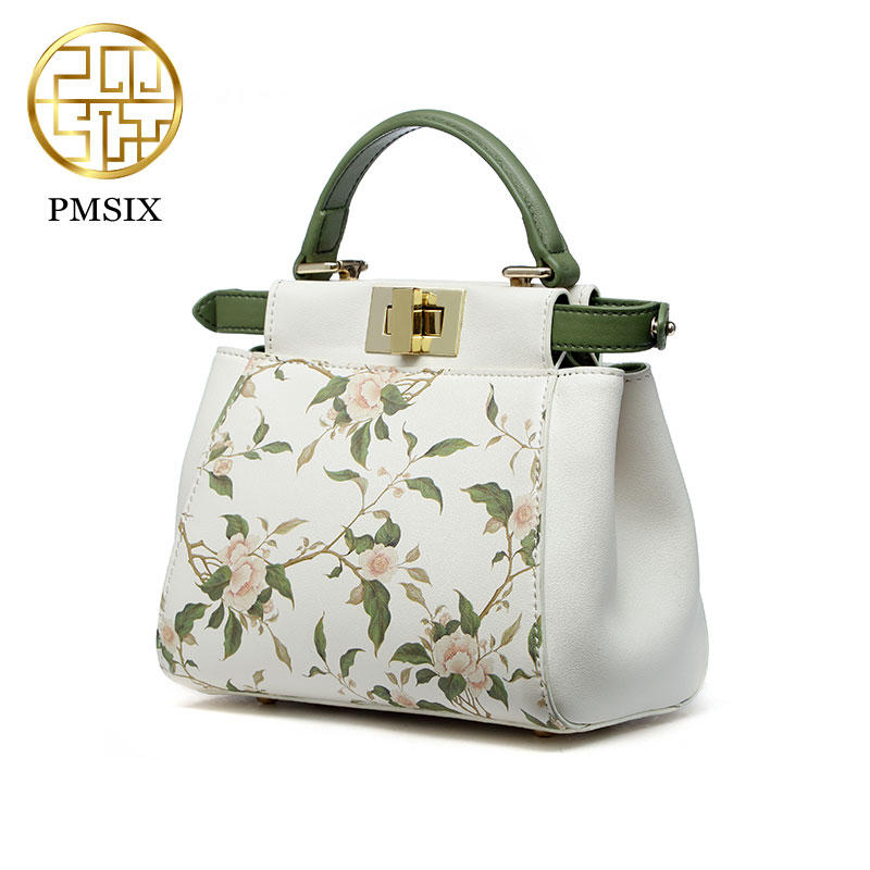 Mini shoulder bag women Pmsix 2017new fashion fresh small fresh leather bags Messenger ladies handbag P220069 offwhite купить дешево онлайн