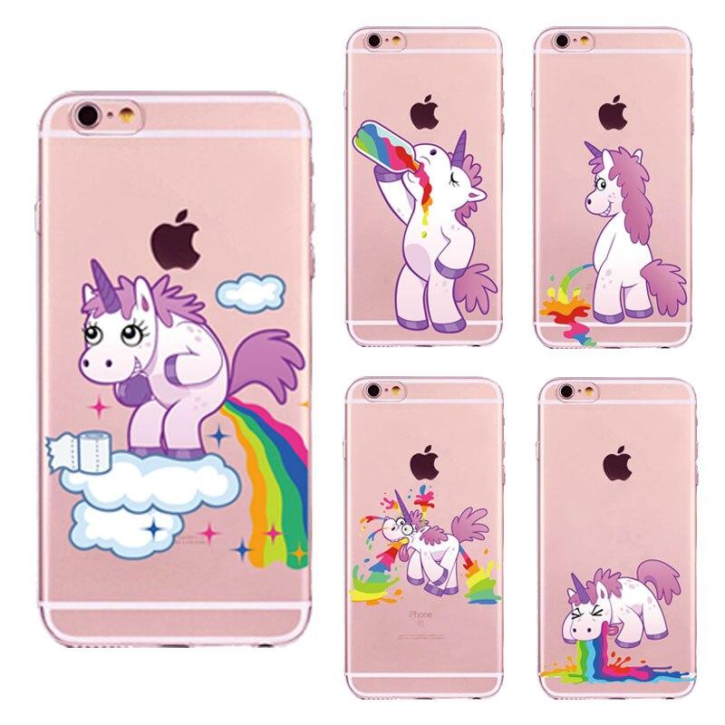 Aliexpress Com Buy New Cute Unicorn Rainbow Case For