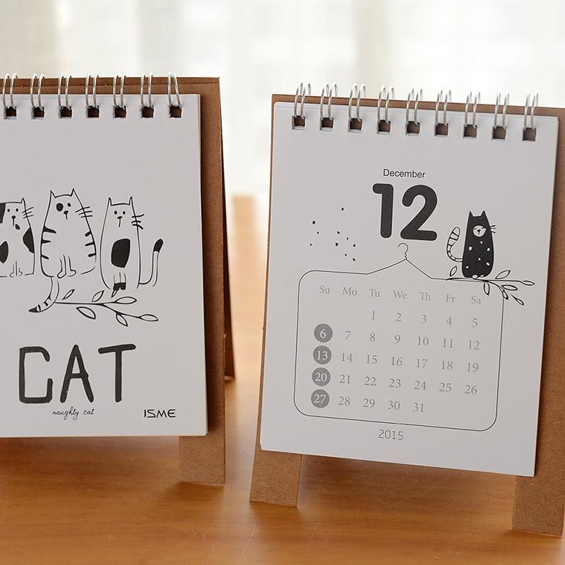 calendars 2016 cartoon animal table calendario cute cat baymax