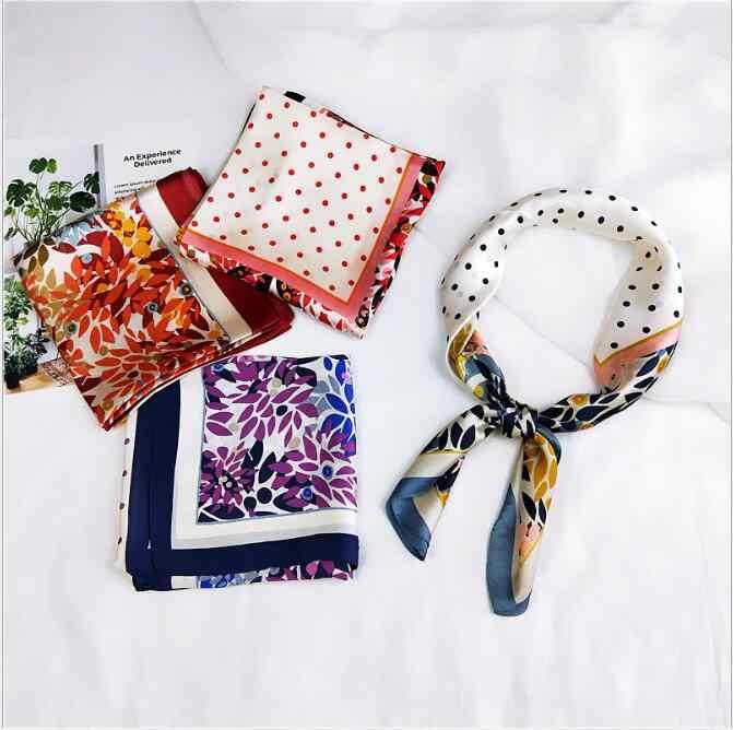 Nieuwe lente en zomer kleine zijden sjaal vrouwelijke zijde wilde professionele kleine vierkante handdoek 70*70 cm
