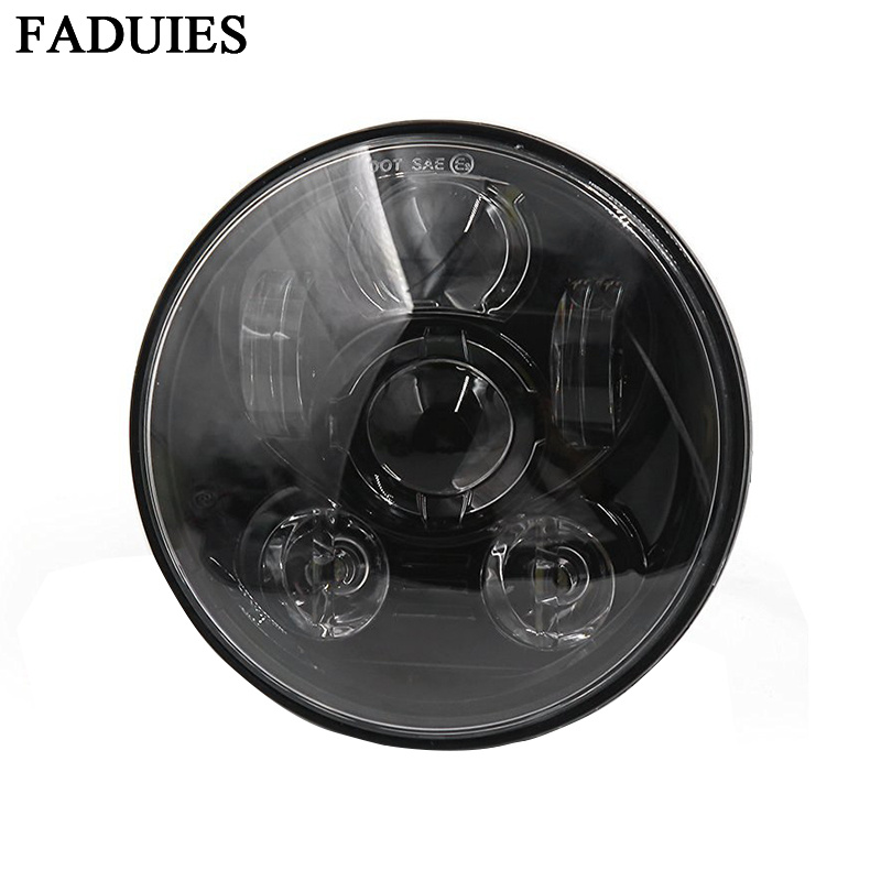 FADUIES Мотоцикл аксессуарлары 5.75 «Motorcycle Led Headlight Harley 5-3 / 4» мотоцикл қара жобалаушы Daymaker Headlamp