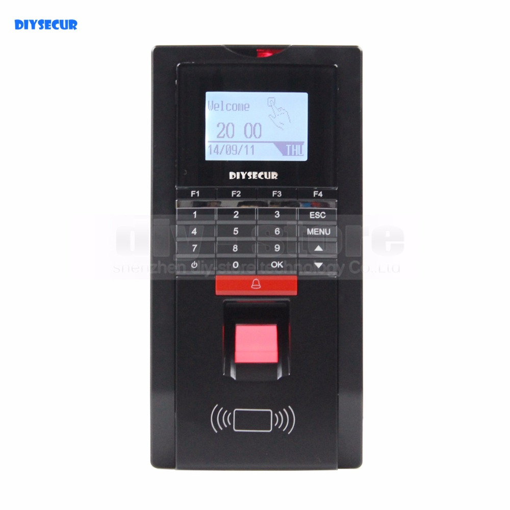 DIYSECUR Biometric Fingerprint Access Control And Attendance TCP IP With ID Card Reader+USB a c030t fingerprint time attendance clock id card tcp ip usb