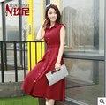 Vestido de verão 2015 versão Coreana do novo vestido de verão das mulheres era fino vestido de chiffon frete grátis