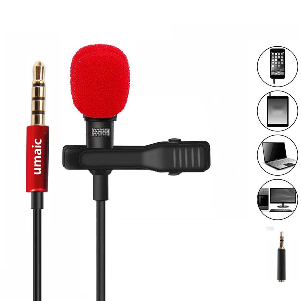 Collar Clip 3.5mm Mini Jack Microphone Portable Wired Capacitor Microphone For Conference Interview Radio Television Station New