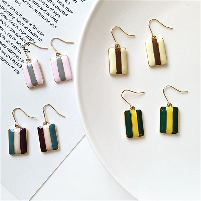 Fashionable women 39 s Earrings Geometric retro Earrings Simple and colorful fashion earrings Drip style ladies earrings jewelry in Stud Earrings from Jewelry amp Accessories