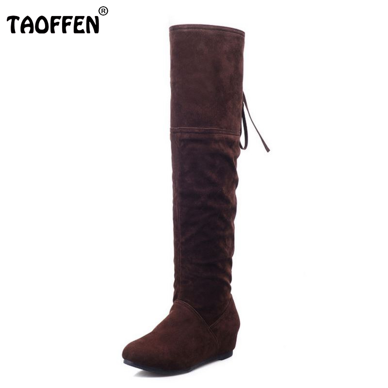 Shoes Women Boots Flats Boots Over The Knee Boots Round Toe Long Botas Fashion Knight Boot Ladies Footwear Size 34-39 ppnu woman winter nubuck genuine leather over the knee snow boots women fashion womens suede thigh high boots ladies shoes flats