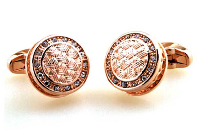 Takı ve Aksesuarları'ten Kravat İğneleri ve Kol Düğmeleri'de 10 çift/grup Lüks Kristal Kol Düğmeleri Gül Altın Kol Düğmeleri Gömlek Manşet Düğmesi Düğün/Parti/Iş Hediye erkek takı Aksesuar'da  Grup 1