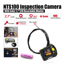 Free shipping!Dia 3.9mm 2.7″ LCD NTS100R Endoscope Borescope Snake Inspection 3M Tube DVR Car Diagnostic Tools