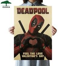 DLKKLB Ретро комикс герой Дэдпул фильм плакат Винтаж крафт-бумага плакат для кафе декоративный Рисунок для бара 51,5x36 см стикер на стену