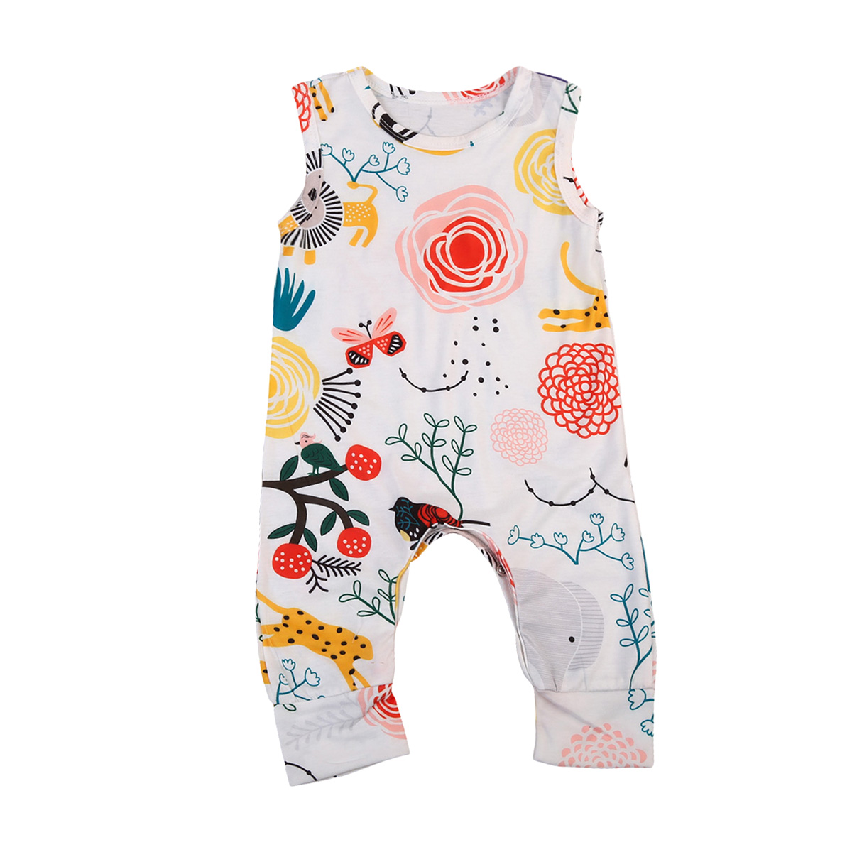 d27756dcb334 Pudcoco 2019 Summer Solid Newborn Baby Girl Boy Romper Sleeveless Jumpsuit  Outfits Sunsuit Casual Clothes