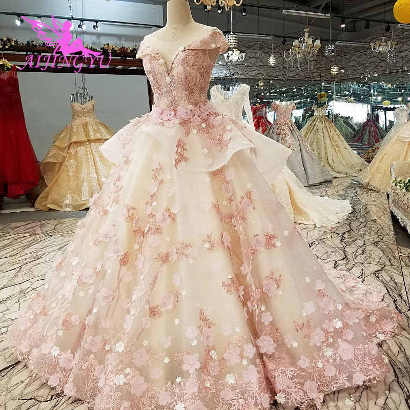 Aijingyu Plus Size Wedding Gowns Korean Gown Lace Tulle Widding 2 Piece Discount Bridal Beautiful Wedding Dresses For Sale Aliexpress,Wedding Dress For Second Wedding Older Bride
