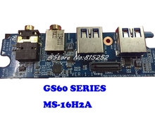 แล็ปท็อปแจ็คบอร์ดขนาดเล็ก USB ขนาดเล็กสำหรับ MSI GS60 MS 16H2A 1.1 ใหม่และต้นฉบับ