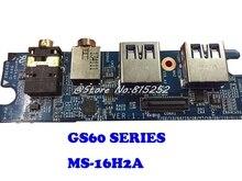 Аудиоразъем ноутбука маленькая дощечка небольшая USB Панель для MSI GS60 MS 16H2A 1,1 Новый и оригинальный
