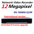 In Stock English Version DS-7608NI-I2/8P 2SATA and 8CH HD 1080P NVR Supporting Third-party Camera, Plug & Play H.265
