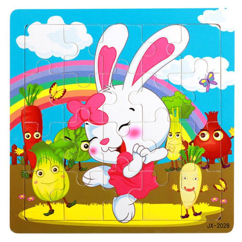 HIINST kids educational toys 2017 Funny Wooden Puzzle Educational Developmental Baby Kids Training Toy of Rabbit*R Drop