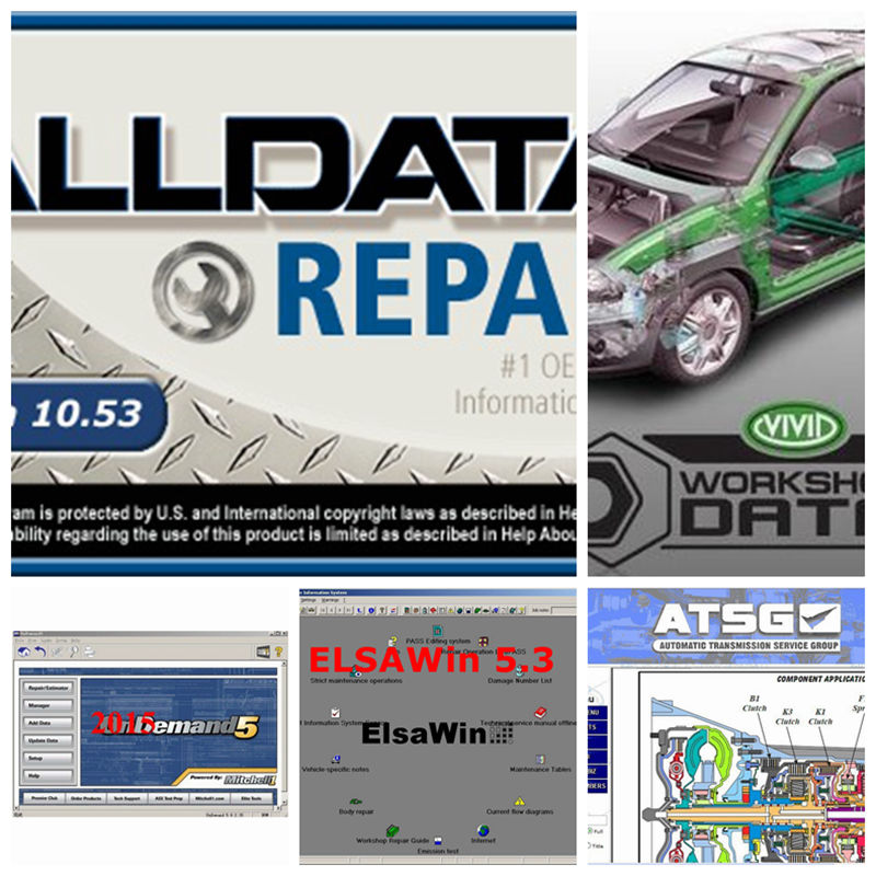 Auto repair alldata software all data 10.53 mitchell ondemand5 2015 ElsaWin Vivid Workshop data atsg 5 in 1tb harddisk 3.0 USB alldata and mitchell software alldata auto repair software mitchell ondemand 2015 vivid workshop data atsg elsawin 49in 1tb hdd
