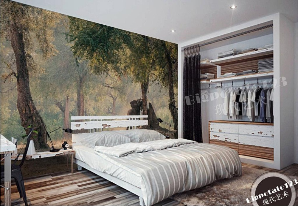 Aliexpress Com Buy Large Custom Mural Wallpapers Living: Popular Animal Wallpaper Murals-Buy Cheap Animal Wallpaper