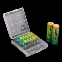 Kebidumei 4 x New Hard Plastic full Case Cover Holder AA / AAA Battery Storage Box Container Bag Case Organizer Box Case