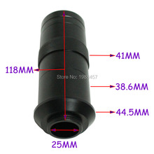Wholesale Free Shipping Industry Microscope Camera C-mount Lens Glass 8X-130X Magnification Adjustable 25mm Zoom Eyepiece Magnifier