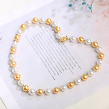 New Fashion Elegant Multicolor Shell 8mm and 10mm Imitation Necklace 40/45/50/55cm shell Beads Bohemian style Jewelry for women