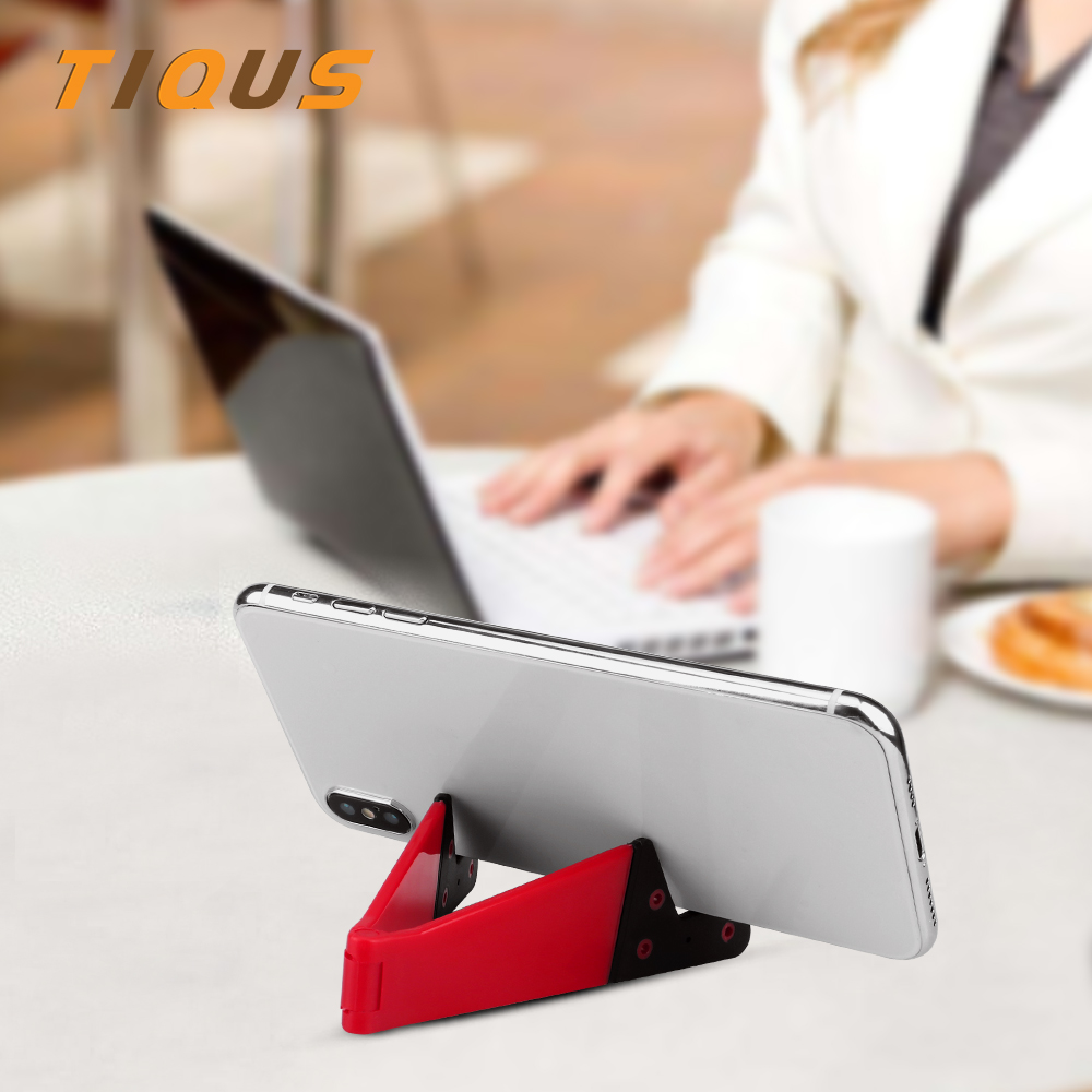TIQUS Universal Foldable Mini Mobile Phone Stand Holder For iphone X XS XR Smartphone Adjustable Support Phone Holder Desk mobile phone