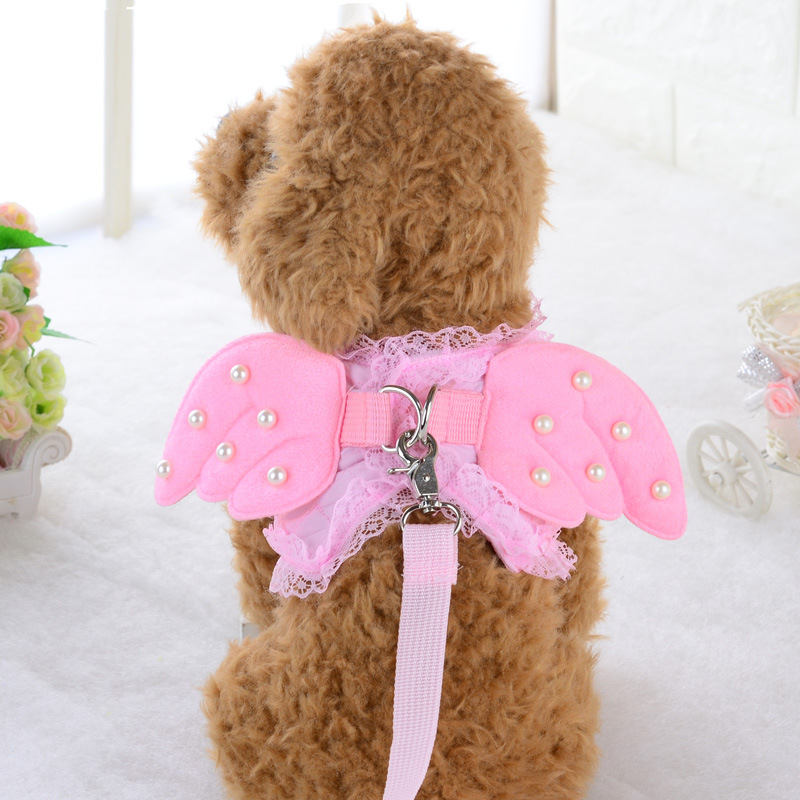 Bajila-Dog-chain-dog-breast-back-rope-pet-dog-rope-cute-lace-angel-pearl-wing-chest (1)
