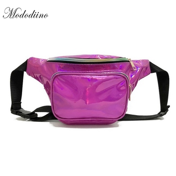 DIINOVIVO New Fashion Solid Laser Belt Bags 2018 Casual Multifunction Fanny Pack Simple Womens Chest Pack Phone Bag Belt DNV0450