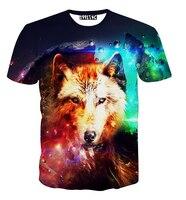 New Fashion Galaxy Wolf T Shirt For Men Women Animal 3d T Shirt Summer Harajuku Tshirt