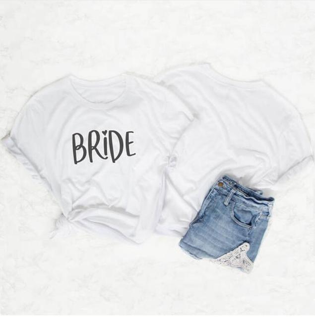 Skuggnas Team bride couple t-shirt grunge 90s fashion bride squad clothing  Bride To Be 4adac177986e