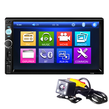 7010B 2 Din Autoradio Doppio Din Car Video Player Touch Screen Panel Car Audio Player di Sostegno FM/MP5/USB/AUX/Bluetooth