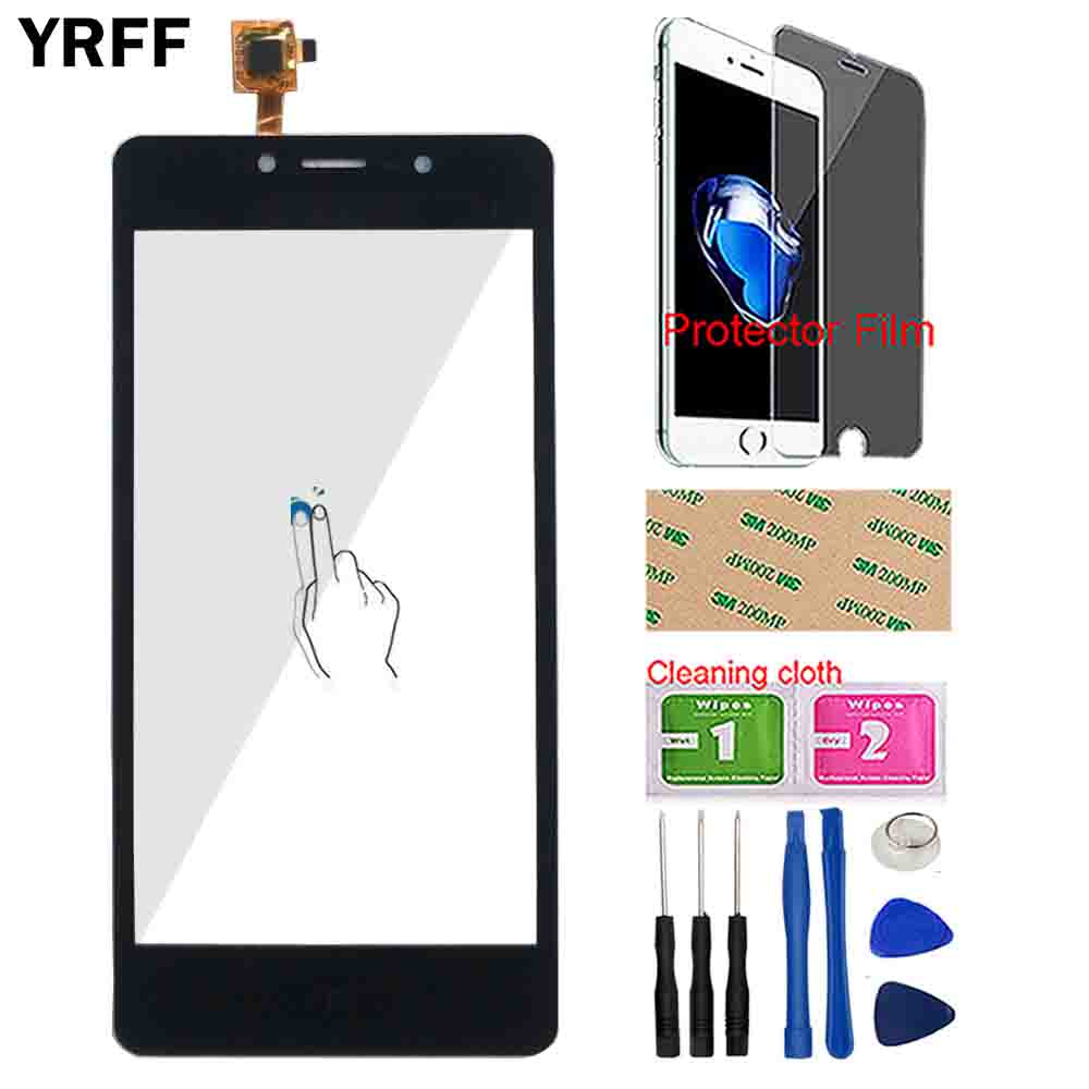 Phone Touch Screen Glass For Leagoo Power 2 Touch Screen Digitizer Panel Front Glass Lens Sensor Tools Protector Film Wipes