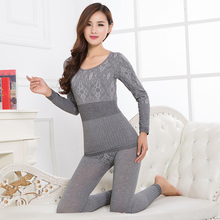 Long Johns For Women Winter Spring Thermal Underwear Suit Thin Felmale Seamless Pant And Top