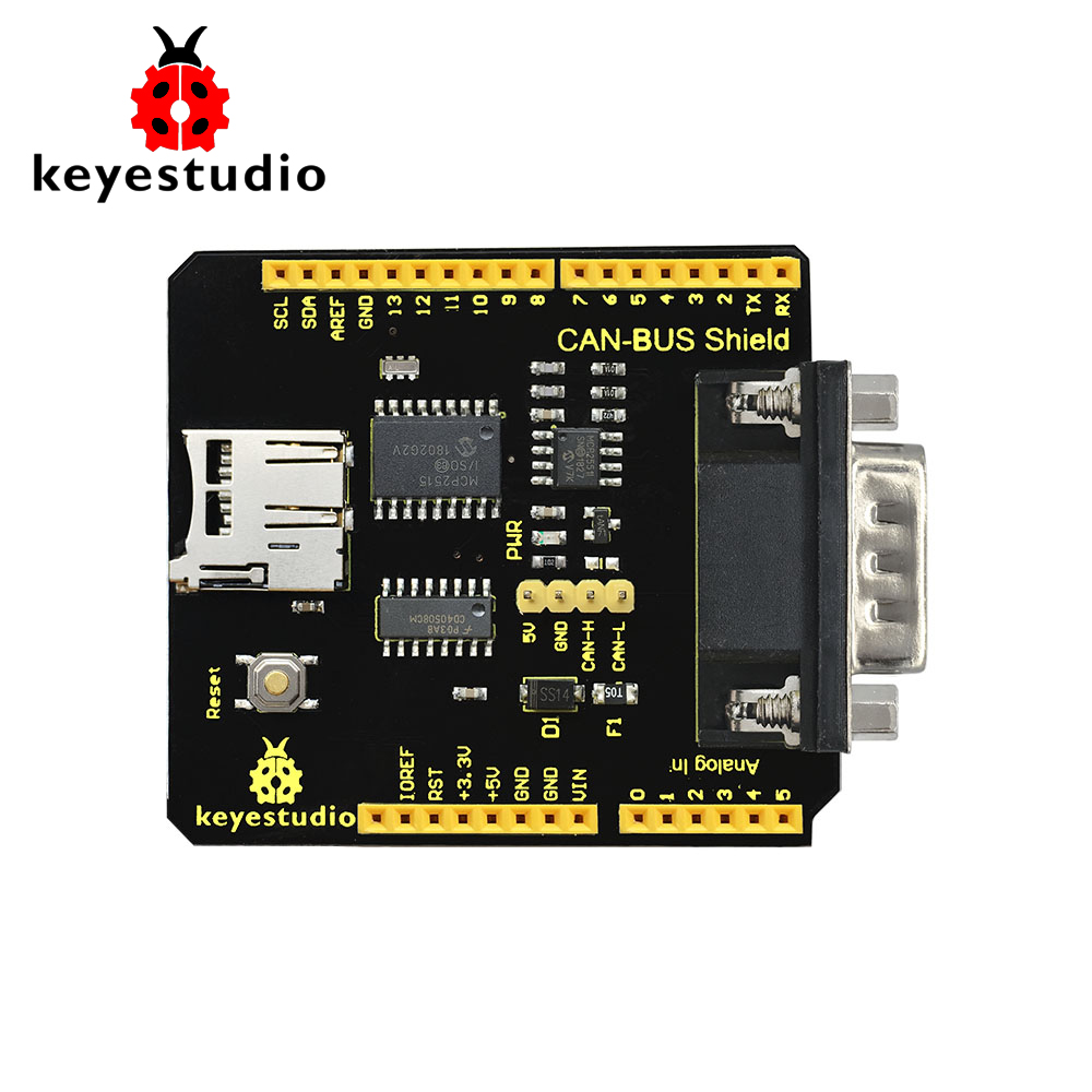 2019New Keyestudio CAN-BUS Shield MCP2551 Chip With SD Socket  For Arduino UNO R3/Gift Box