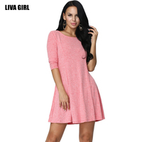 2017 Spring Women S A Word Knitted Plus Size Back Strap Sexy Fashion Dress For Women