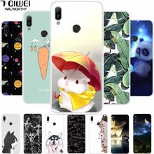 A For Huawei Y6 2019 Case Y 6 2019 Soft TPU Silicone Print Phone Case For Funda Huawei Y6 2019 Case Cover 6Y Cute Animal Hoesje(China)