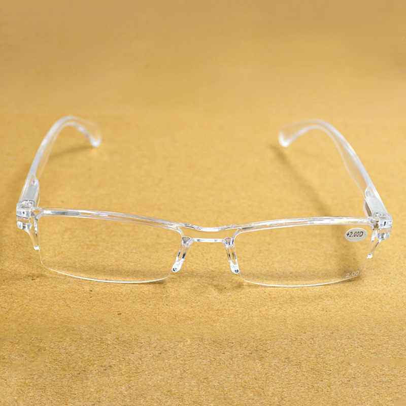 Reading-Glasses Spectacles Diopter Transparent Frameless Presbyopia Women Lectura De