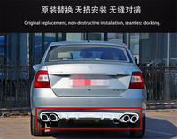 ABS Chrome Rear bumper cover trim plastic Bumper bars front and rear bumper Fake exhaust for Skoda Rapid 2013 2018