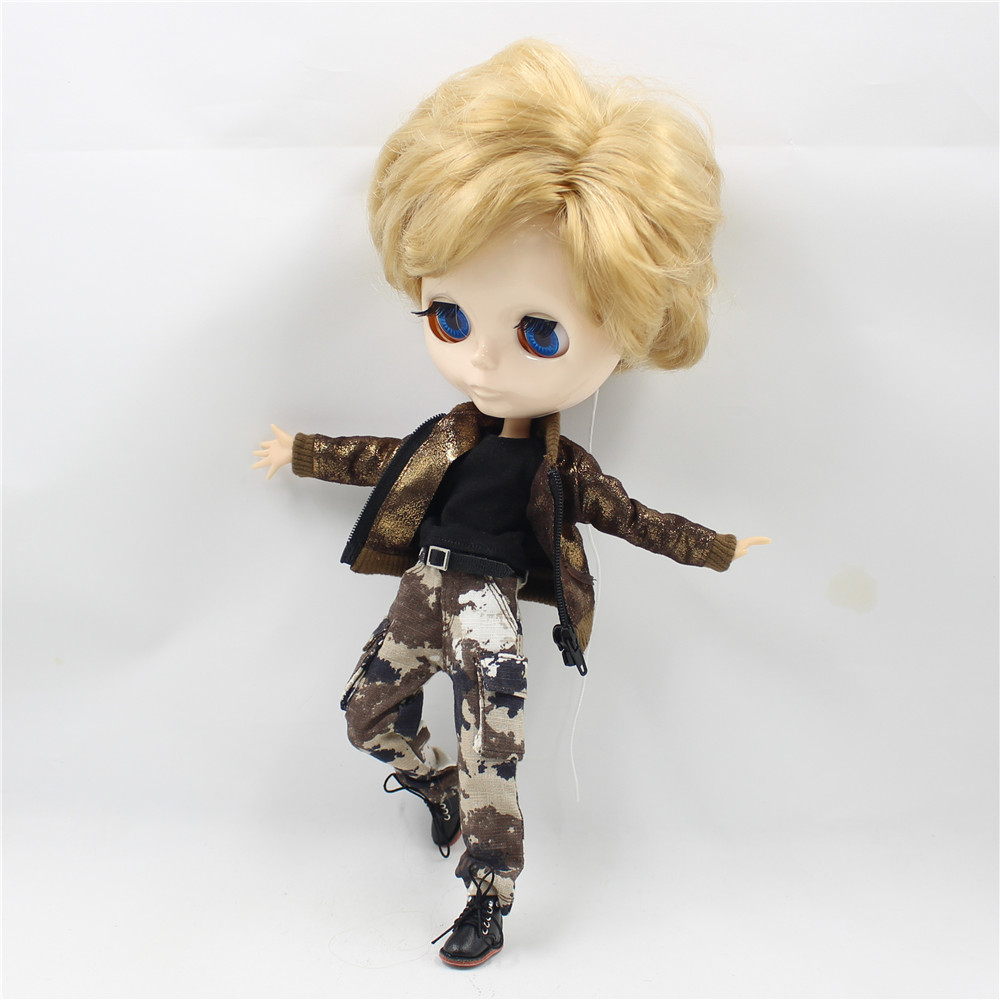 Neo Blythe Doll Military Uniform Pants Coat Outfit 3